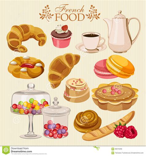 set de cuisine vector set of cuisine national food of