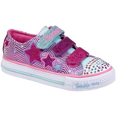 skechers kids light up shoes kids girls skechers velcro lace up twinkle toes light up