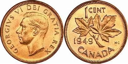1949 Cent George Canadian Varieties