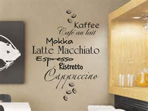 wandgestaltung wandtattoos wandtattoo kaffee design mit kaffeesorten schriftzüge wandtattoo