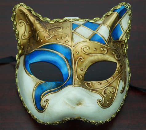 venetian cat mask traditional venetian cat mask blue