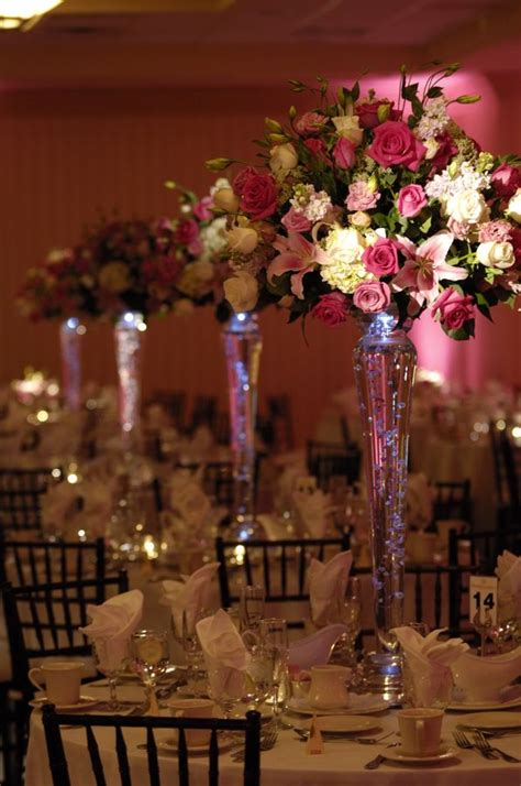 cheap wedding centerpieces  tall vases  utterly