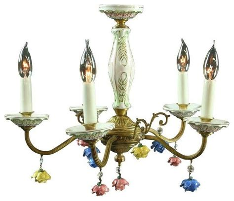 Used Chandeliers by Used Vintage Capodimonte Chandelier C 1950s Italy