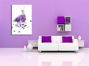 Tableau Lavande Fleurs Design Pas Cher Dcoration Murale