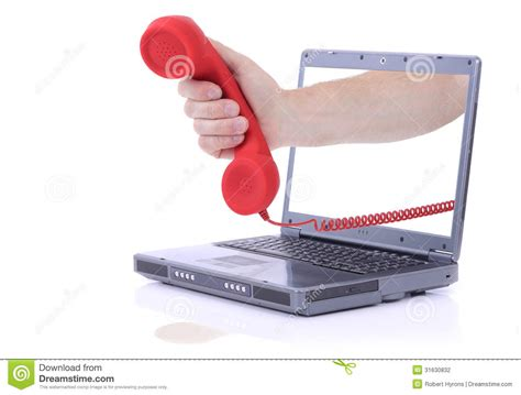 laptop urgent call stock photography image