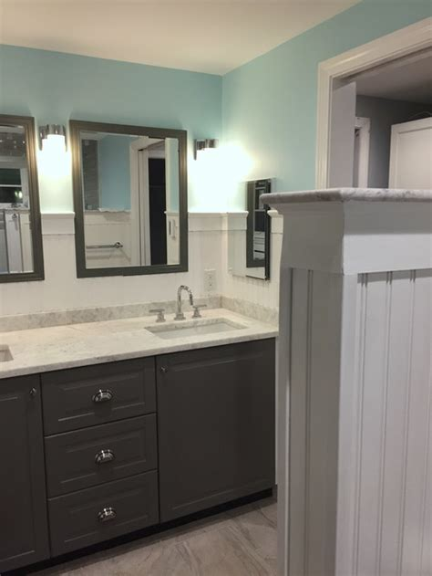 Ikea Kitchen Cabinets Used As Bathroom Vanity by New Bath W Ikea Sektion Cabinets Image Heavy