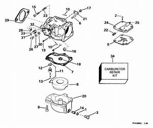 Johnson Carburetor Parts For 1999 40hp J40jpleec Outboard