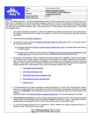 fmla policy fillable templates fill  printable