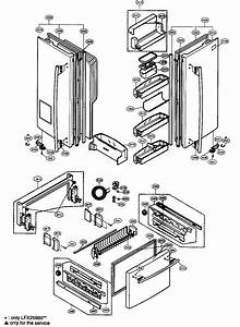 Door Parts Diagram  U0026 Parts List For Model Lfx21960st Lg