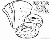 Bread Coloring Pages Colorings Food sketch template