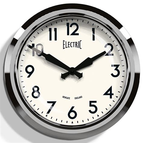 Newgate 50's Chrome Retro Wall Clock  Newgate Clocks