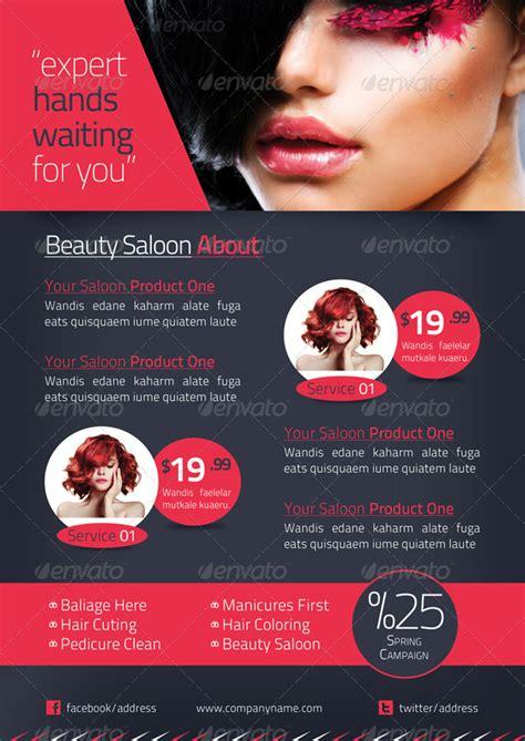 beauty salon brochure template  grafilker graphicriver