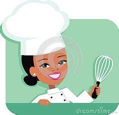 vector woman baker chef african american stock