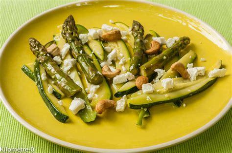 cuisiner les asperges vertes salade de courgettes asperges vertes fêta et noix de