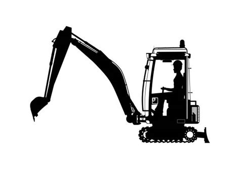 mini excavator illustrations royalty  vector graphics clip art istock