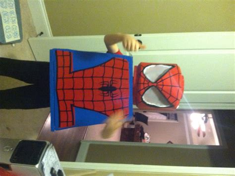 diy lego spiderman costume honeysuckle footprints