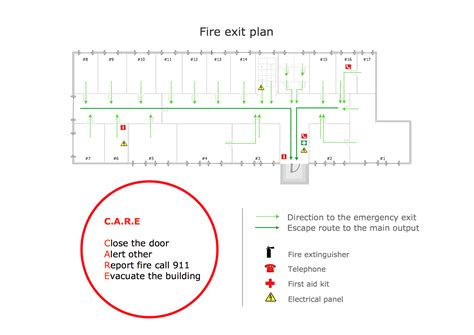emergency plan fire exit plan building plan examples