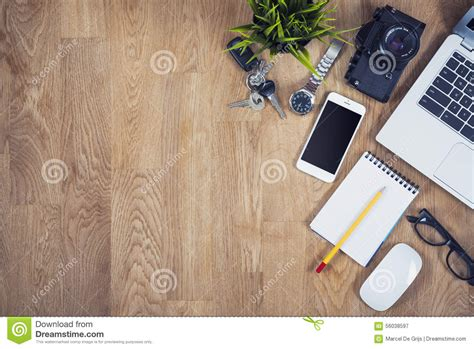 Office Desk Top View by Top View Office Desk Stock Photo Image 56038597