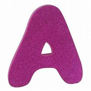 Hobbycraft Glitter Foam Letter A Pink | Hobbycraft