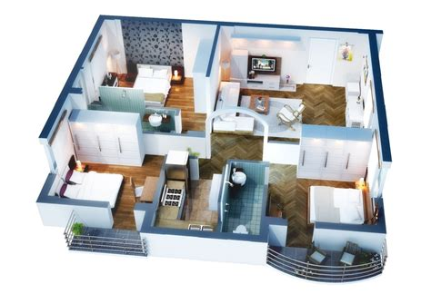 Modern 3 Bedroom House Plans Floor