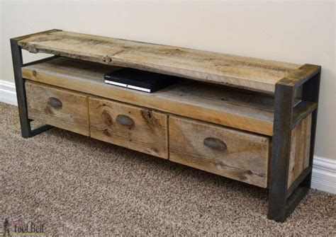 Airia Desk And Media Cabinet by Rustic Media Console Table Tool Belt