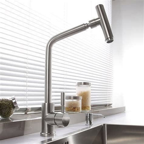 modern kitchen faucets stainless steel sus 304 stainless steel rotatable modern kitchen faucet