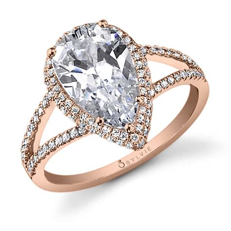 camille pear shaped engagement ring sy289