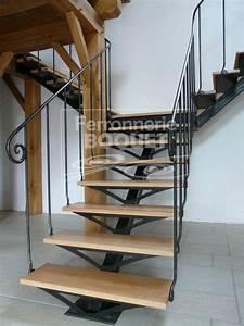 Escalier Fer Et Bois : escaliers fer forg ferronnerie boquet ~ Dailycaller-alerts.com Idées de Décoration