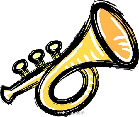 Trumpet Clipart Brass Clipart Trumpet Pencil And In Color Brass Clipart