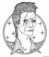 Coloring Bowie Rock Pages David Star Prince Singer Printable Artist Coloriage Colouring Drawing British Music Adults Hendrix Austin Jimi Imprimer sketch template