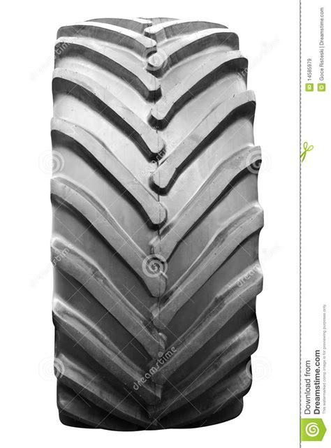 Big Tractor Tire Isolated Royalty Free Stock Images
