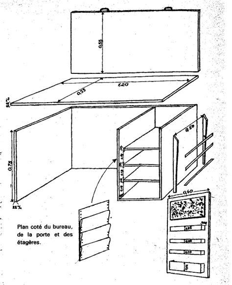 plan bureau d angle fabriquer un bureau d 39 enfant bricobistro