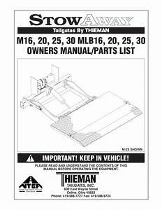 Thieman M Series Liftgate By The Liftgate Parts Co