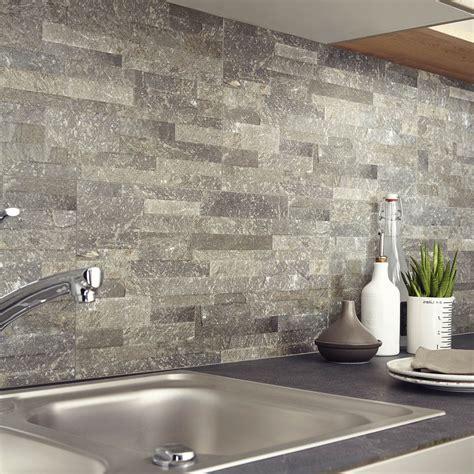 adhesif carrelage cuisine carrelage mur grafite muretto l 30 x l 60 4 cm leroy merlin