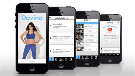 fitness apps for iphone quot davina fitness quot mobile app design for iphone and 2087