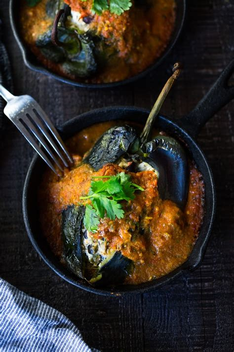 roasted chiles rellenos  black beans feasting  home