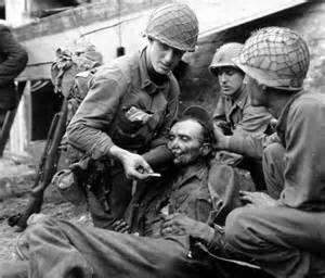 us army soldiers aiding german soldier - Army Wedding Rings