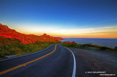 sunset   pacific coast highway california deloprojet