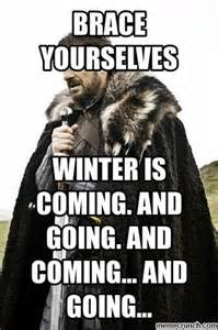 Winter Memes - winter is coming and going and coming