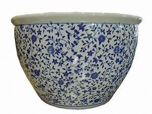 Cache Pot Bleu : cache pot fleurs 2 aux merveilles d 39 asie ~ Teatrodelosmanantiales.com Idées de Décoration