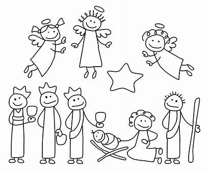 Stick Coloring Figure Pages Printable Getcolorings