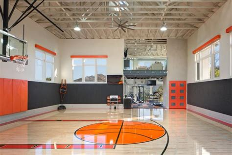 private indoor basketball court hgtv faces  design hgtv