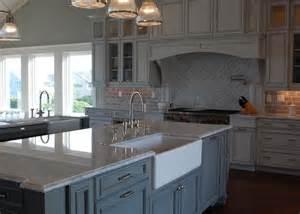 restoration hardware kitchen island marble countertop transitional kitchen restoration hardware silver
