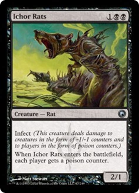 Rat Deck Mtg Modern by Ichor Rats Magic Card