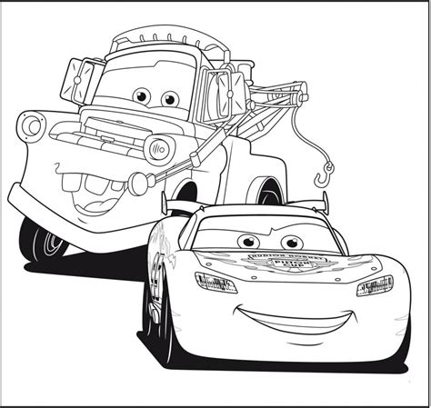 Lightning Mcqueen And Mater Coloring Pages To Print Printable Lightning Mcqueen Coloring Pages Free Large Images