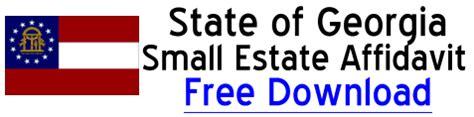 georgia small estate affidavit form georgia small estate affidavit free small estate