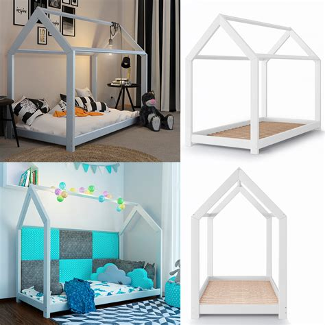 Kinderbett Kinderhaus Kinder Bett Holz Haus Schlafen Real