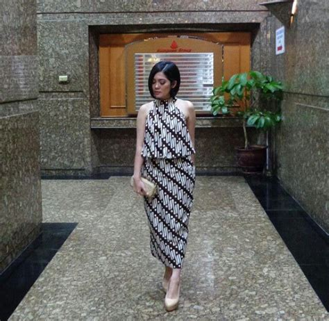 dress batik mtif parang batik songket  tenun