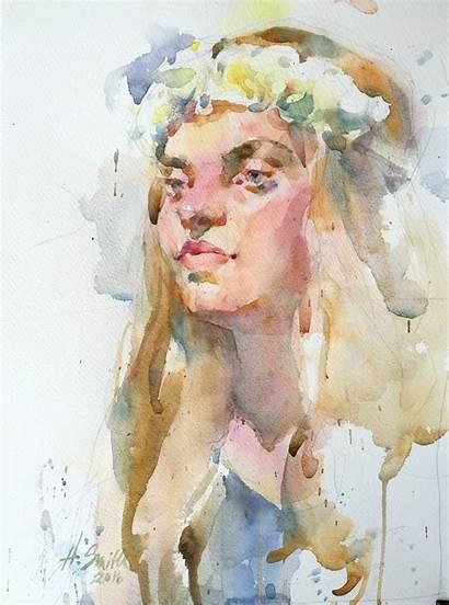 Watercolor Portraits Portrait Smith Artists Annette Local