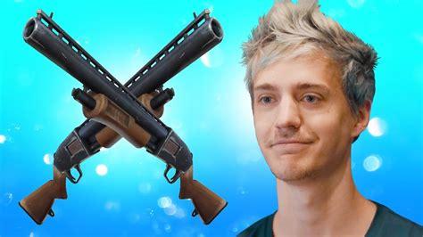 ninja  change fortnite double pump  gun